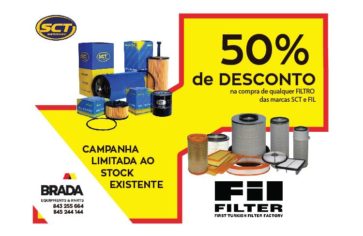 50% OFF in any SCT or FIL Filters